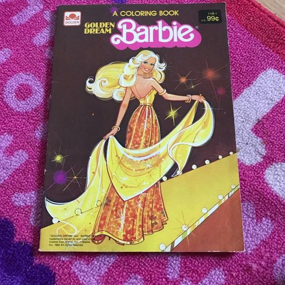 Vintage 1982 Barbie Coloring Book